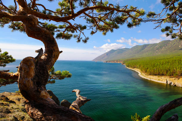 Landschaft am Baikal-See in Sibirien. – Foto