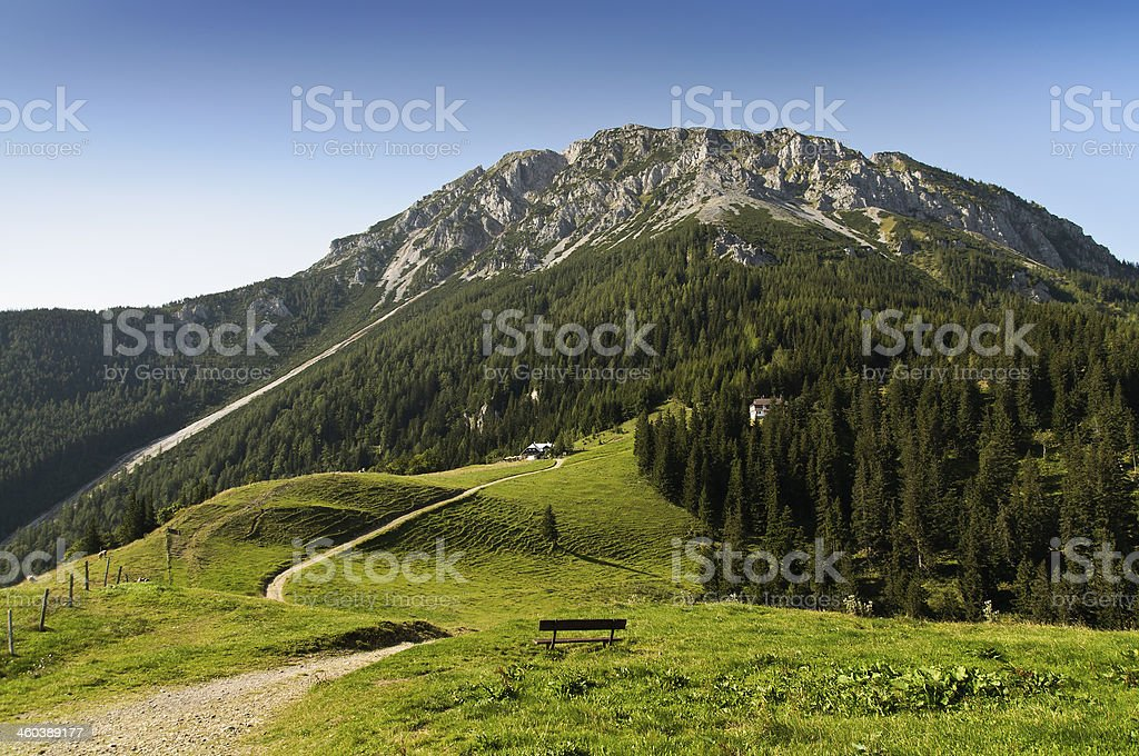 Landscape at the foot of Schneeberg, Lower Austria stock photo