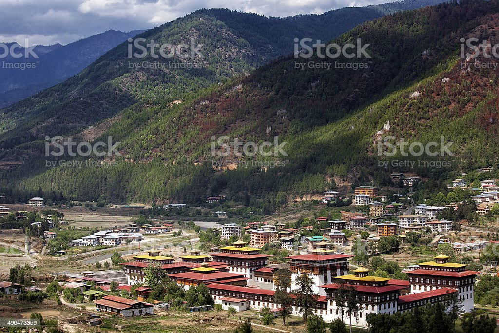 Landscape at Thimphu, Bhutan stock photo