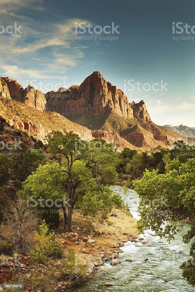 Landscape at Zion National Park Vertical stock photo