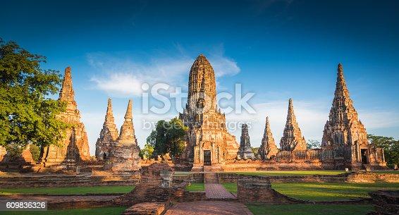 Landscape Ayutthaya Historical Park in Ayutthaya, Thailand.