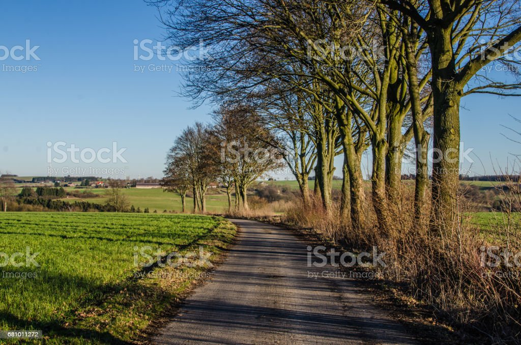 Landscape background taken outdoors in fields with copy space royalty-free stock photo