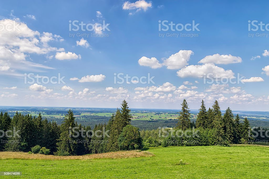 Landscape Bavaria stock photo