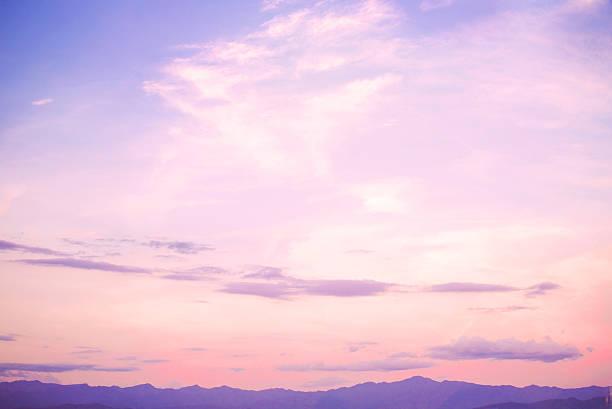 landscape beautiful sky - pink sunrise bildbanksfoton och bilder