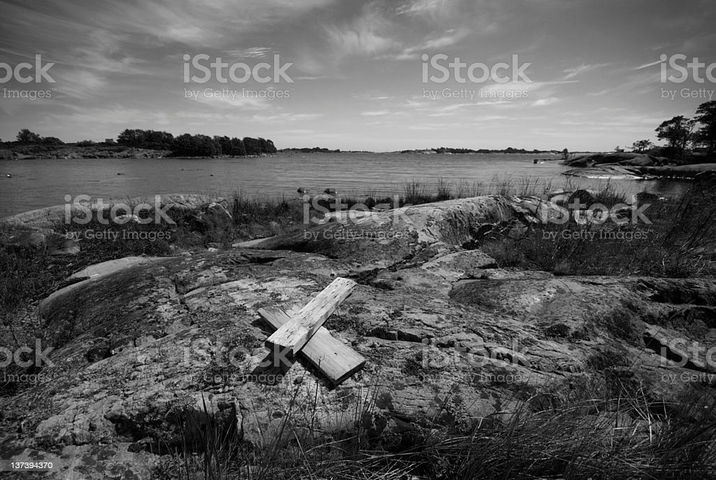 Landscape Black and white royalty-free stock photo