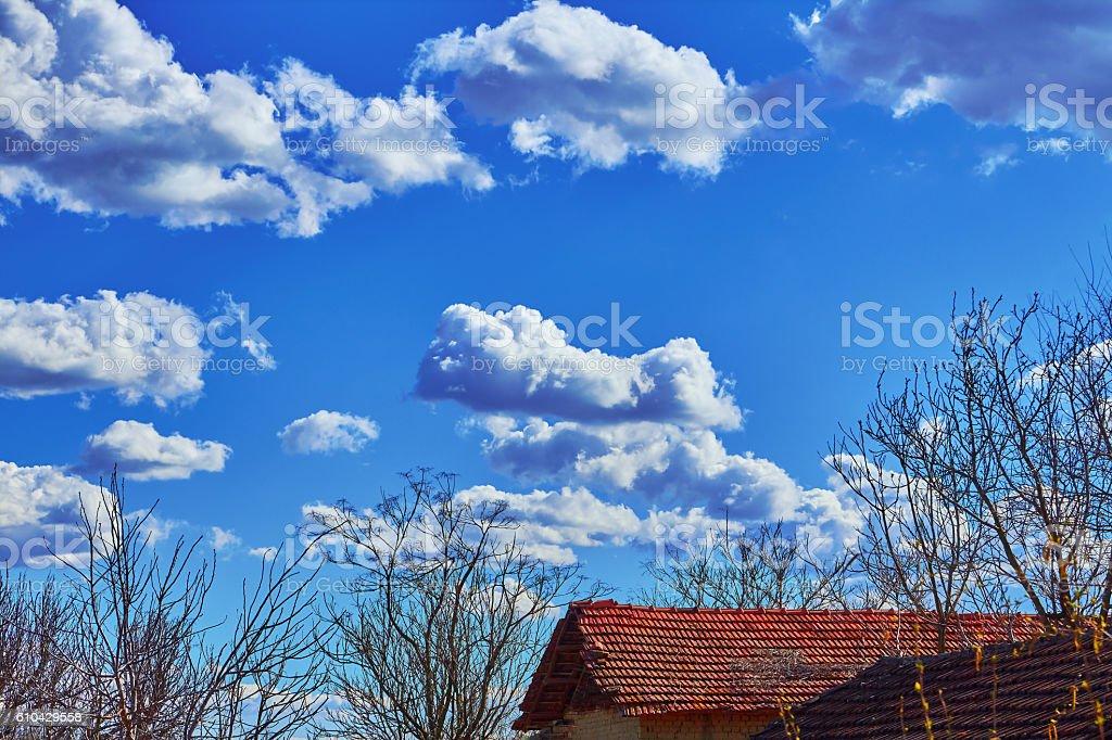 landscape blue sky royalty-free stock photo