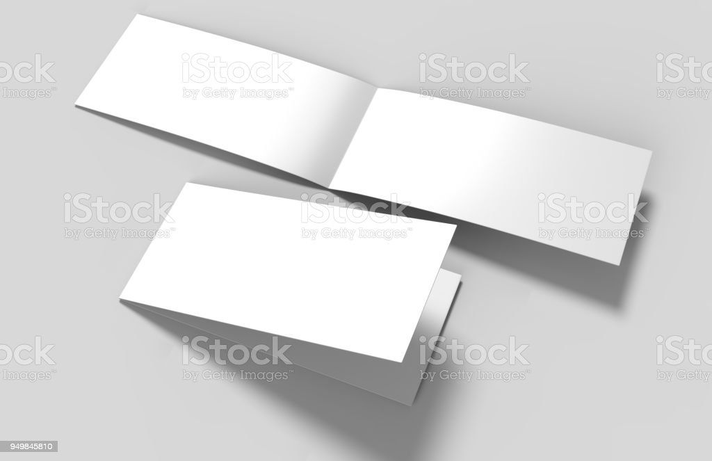 landscape brochure blank white template for mock up and presentation