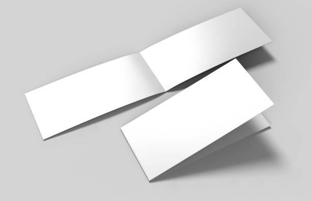 landschaft-broschüre weiße vorlage für mock up leer und präsentation entwerfen. 3d illustration. - motionless in white stock-fotos und bilder