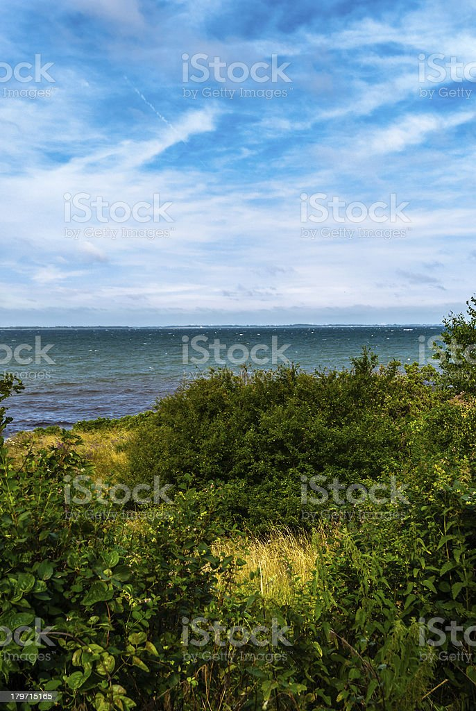 Landscape by the sea royalty-free stock photo