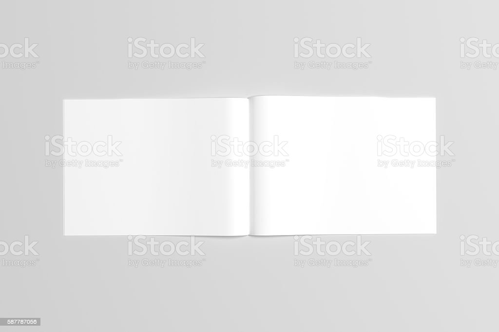 A4 Landscape Catalog / Magazine Mock-Up - Perfect Binding. Illustration stock photo