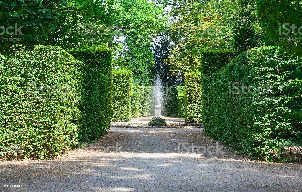 Landscape city park. stock photo