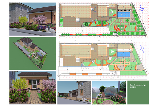 Creation of a project for landscape design. Vacation home.