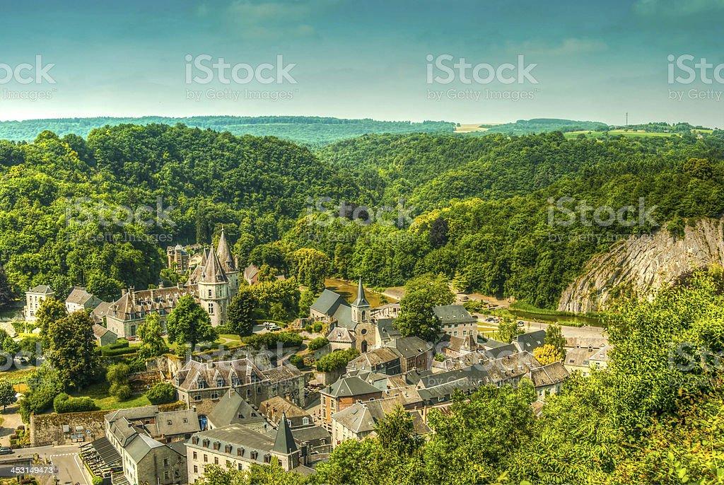 Landscape Durbuy stock photo