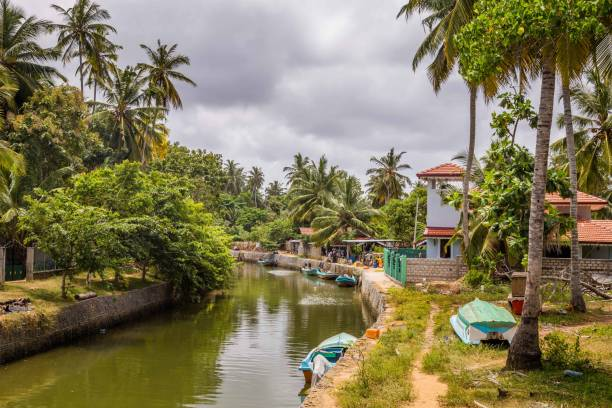 Landschap Nederlandse kanaal in Negombo, Sri Lanka foto