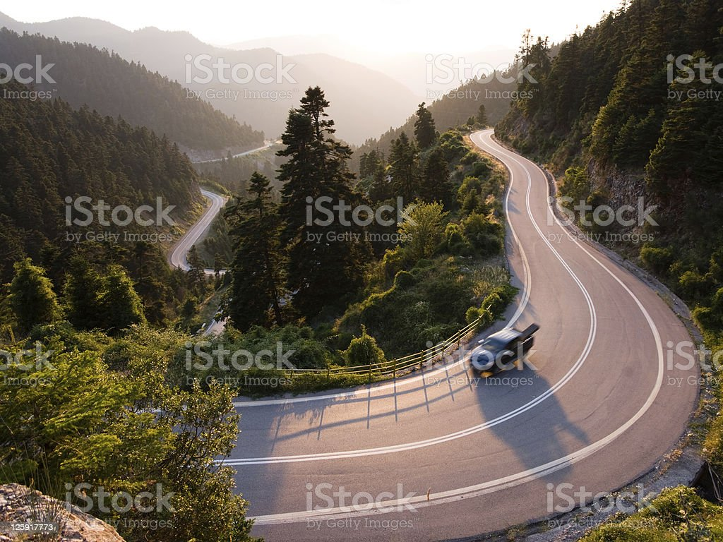 landscape for winding road royalty-free stock photo