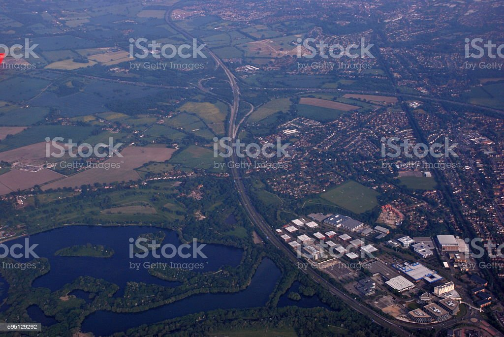 Landscape from above stock photo