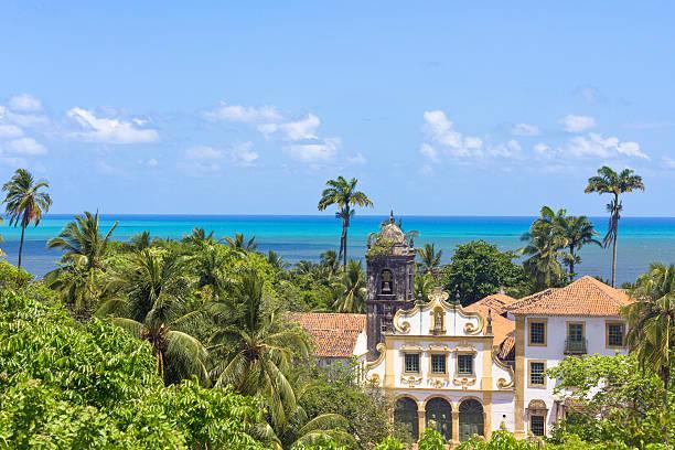 paisagem de edifícios antigos em olida, recife, brasil - recife e olinda - fotografias e filmes do acervo