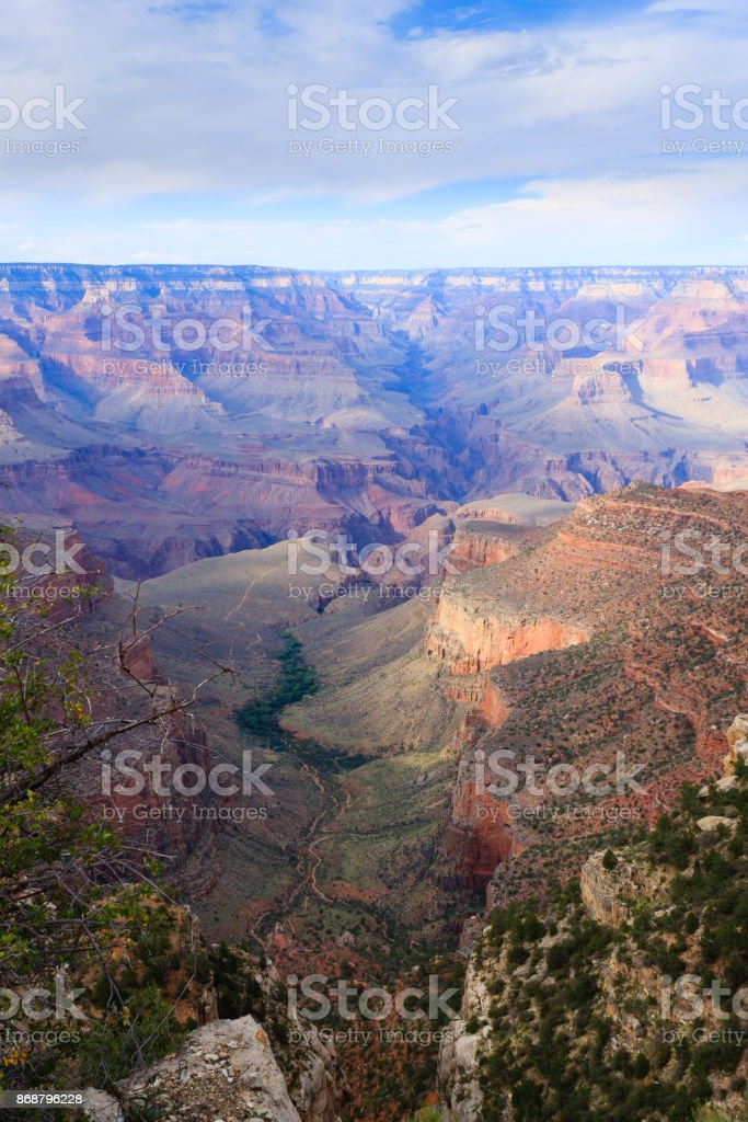 Landscape from Grand Canyon south rim, USA stock photo
