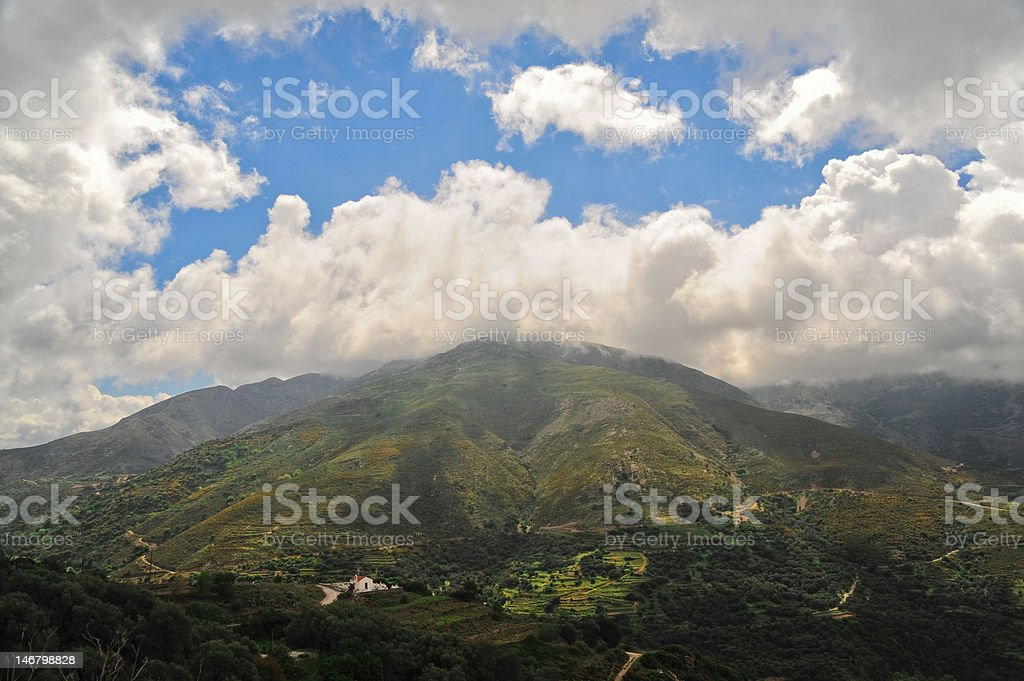 Landscape from Greece stock photo