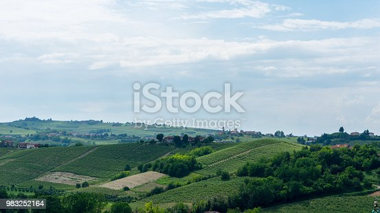 This is a shot took by the top of Agliano, near Asti, in Italy, in the zone where most of the wine is produced: Monferrato.
