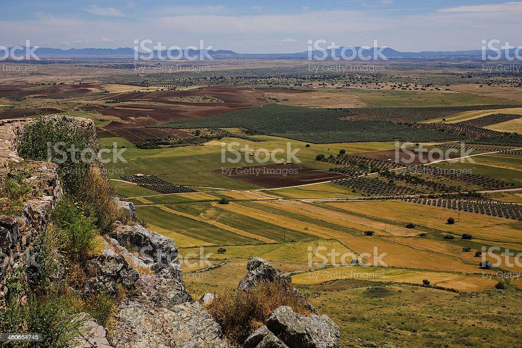 Landscape from Magacela stock photo