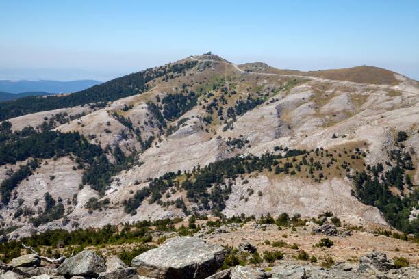 landscape from mount ida of Edremit town at Balikesir, Turkey stock photo