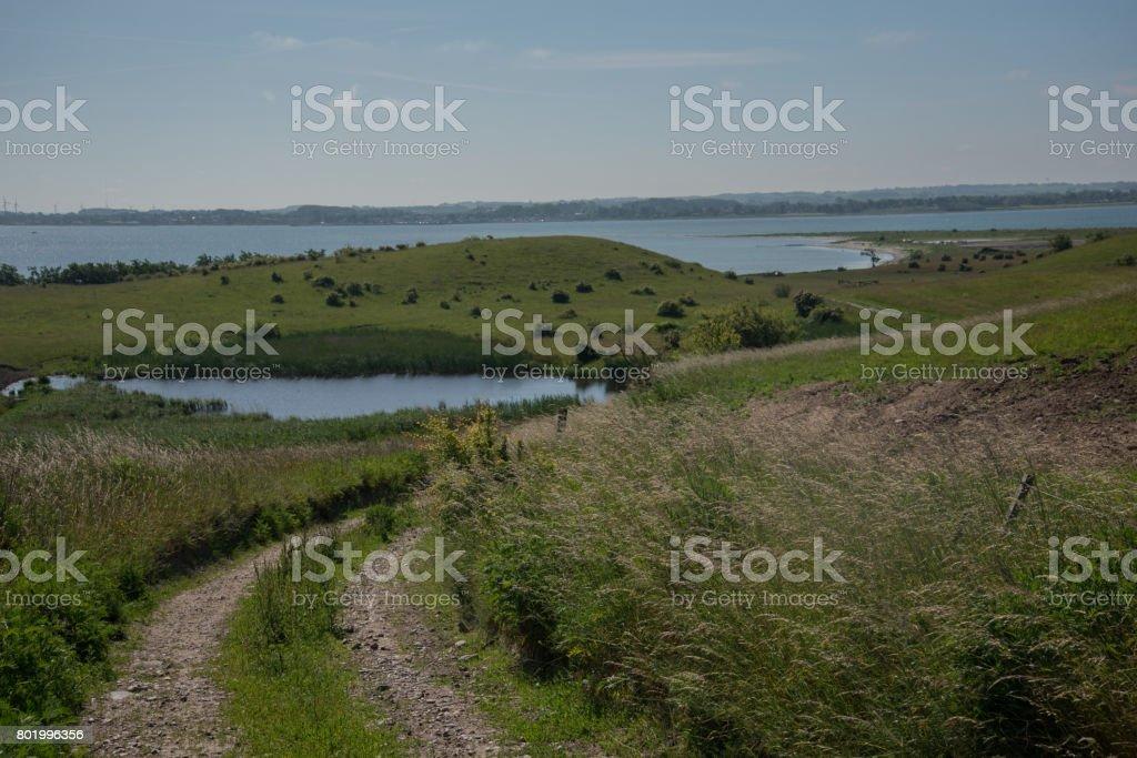 Landscape from the Danish island Nekselø stock photo