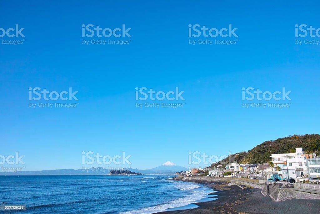 Landscape from the Inamuragasaki Beach stock photo
