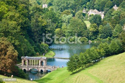 Prior Park Landscape Garden in Bath, Somerset, UK.