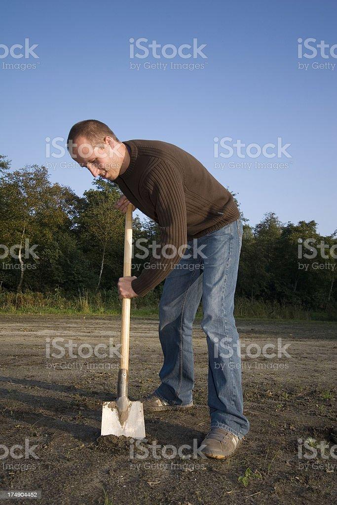 Landscape gardener royalty-free stock photo