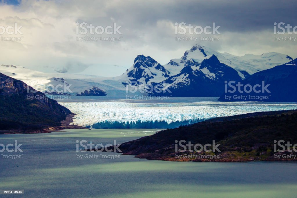 Landscape Glacier Perito Moreno, Los Glaciares National Park, El Calafate, Province Santa Cruz, Patagonia Argentina, South America. royalty-free stock photo