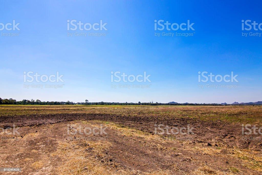 Landscape ground field in Thailand.Wait for farming.