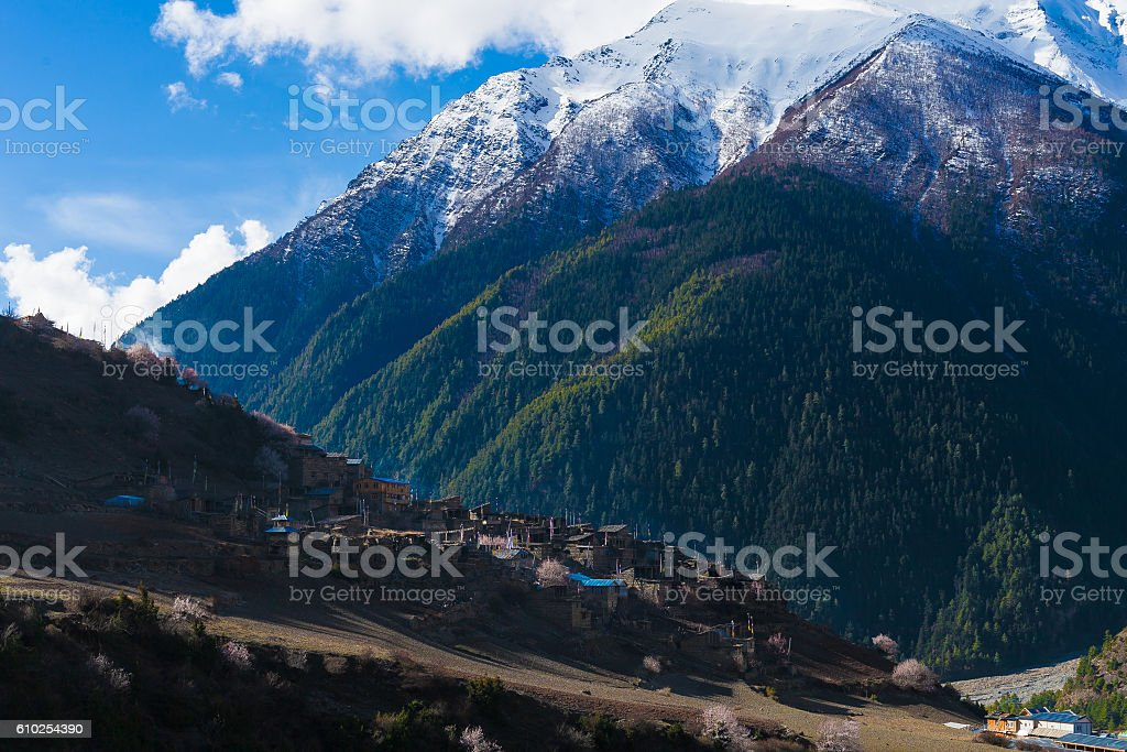 Landscape Himalays Mountains.Asia Nature Morning Viewpoint.Mountain Trekking,View стоковое фото