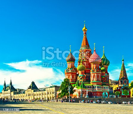 Saint Basil s cathedral; Moscow, Russia