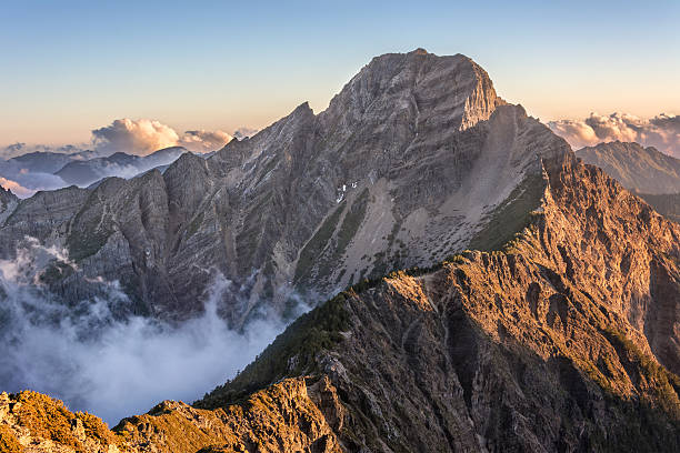 A landscape image of Mt Yushan stock photo