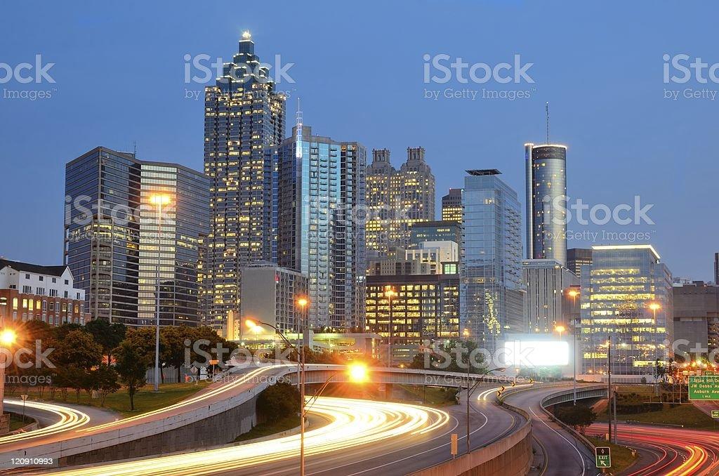 Landscape image of skyline of Atlanta in Georgia royalty-free stock photo