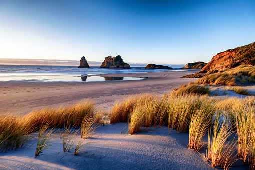 istock Landscape image of sunset at coastline in New Zealand 1068969146