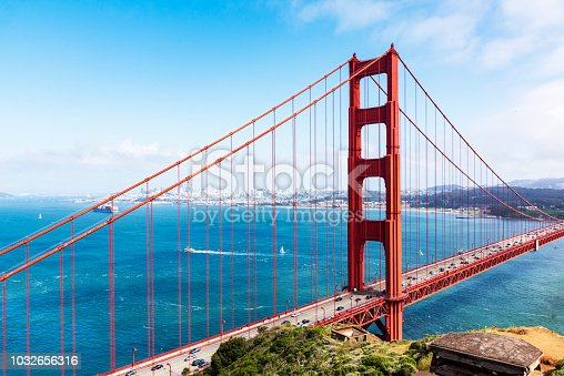 530755444 istock photo Landscape image of the Golden Gate Bridge 1032656316
