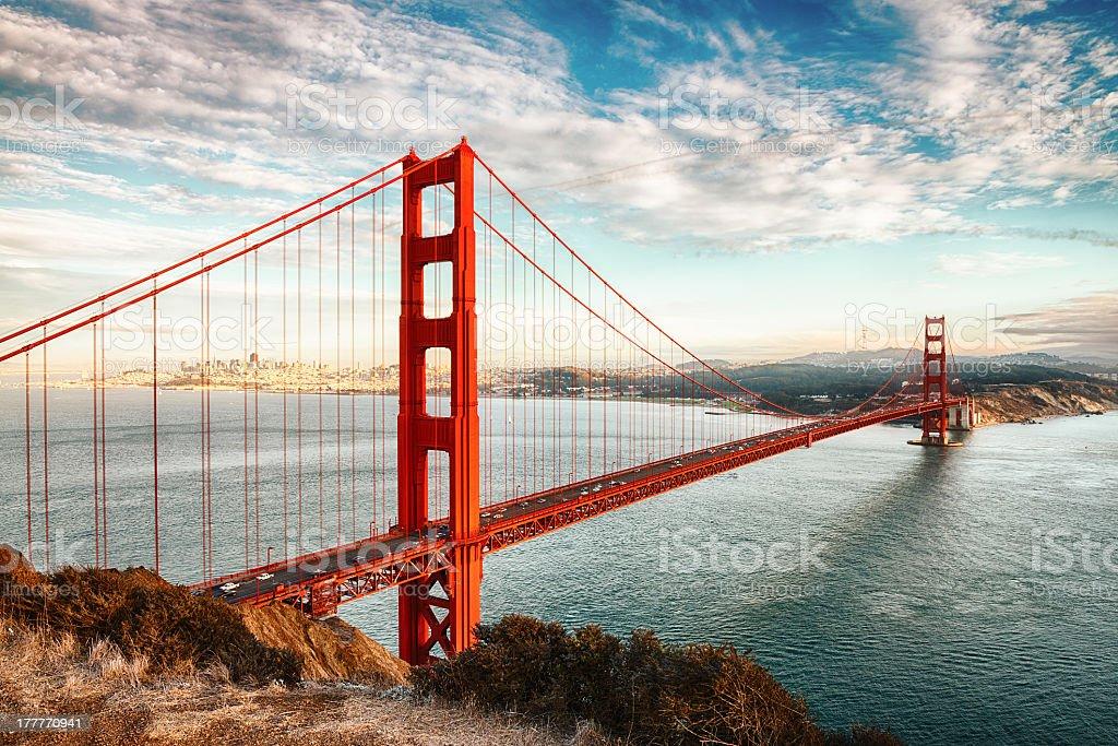 Landscape image of the Golden Gate Bridge, San Francisco stock photo
