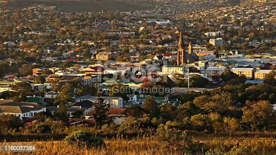 istock A landscape image of the town of Makhanda (Grahamstown), South Africa during sunset. 1160037384
