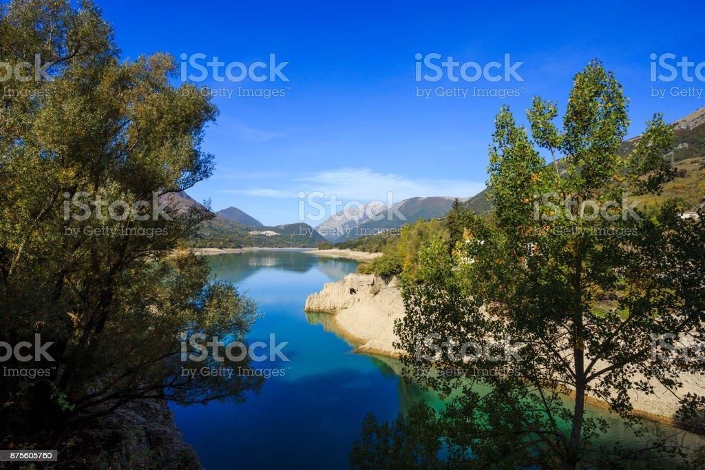 Landscape in Abruzzo in Italy stock photo