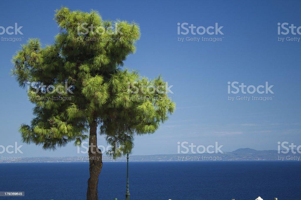 Landscape in Afitos, Greece stock photo