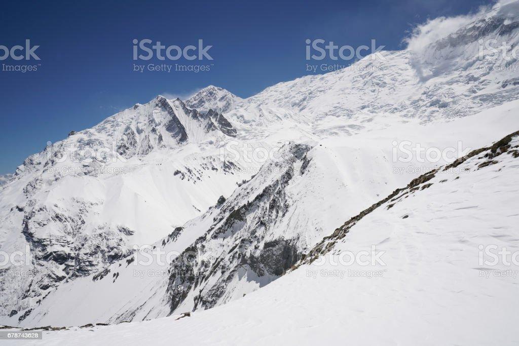 Landscape in Annapurna circuit,trekking in Nepal royalty-free stock photo