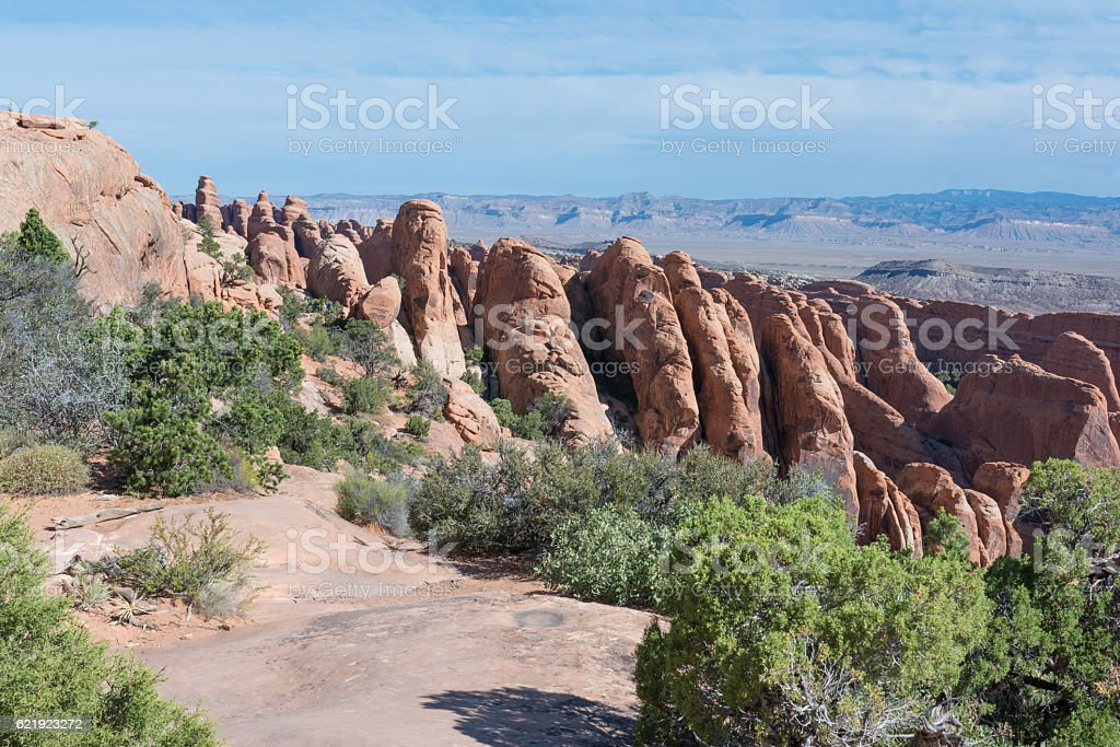 Landscape in Arches National Park,  Utah stock photo