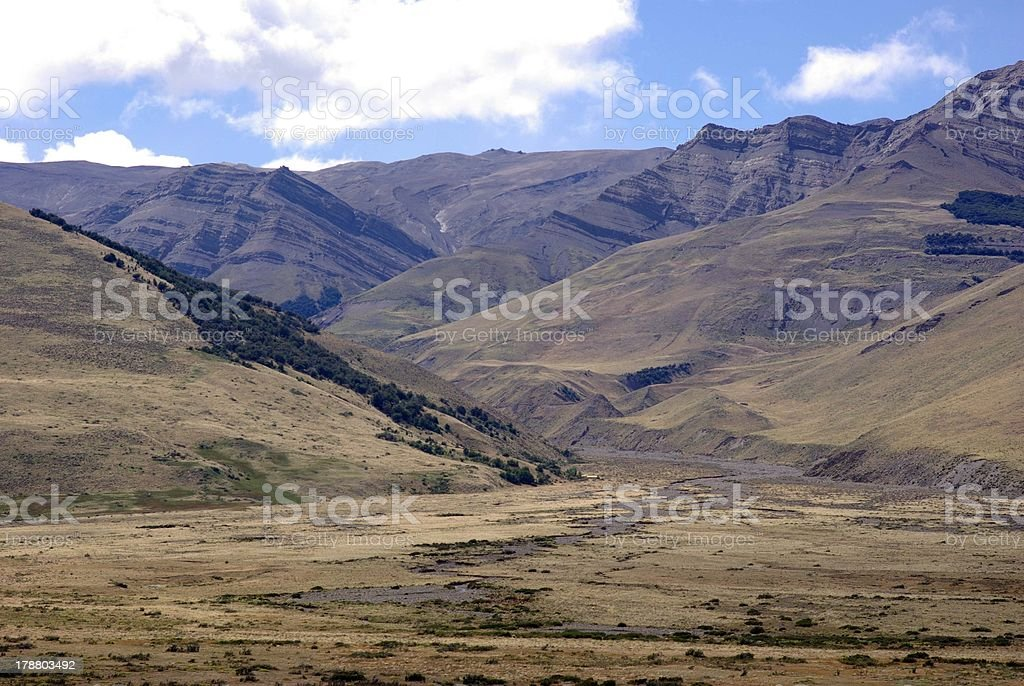 Landscape in Argentina stock photo