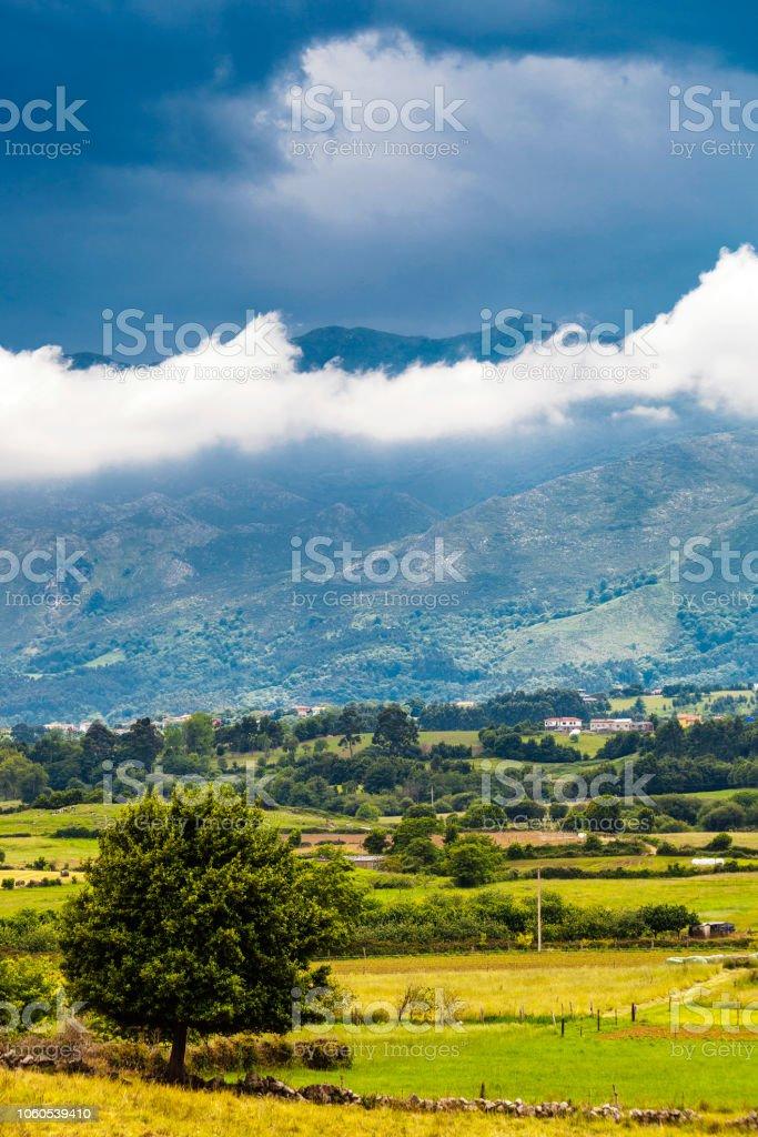 Landscape in Asturias, Spain stock photo