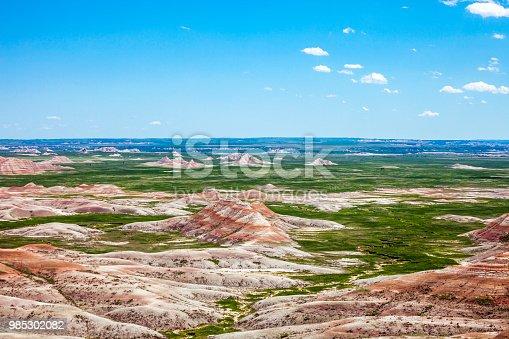 Landscape in Badlands, South Dakota, USA