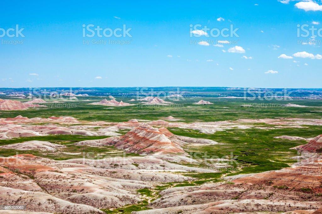 Landscape in Badlands, South Dakota stock photo