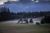 Summer evening landscape in Bavaria, Germany , 2020