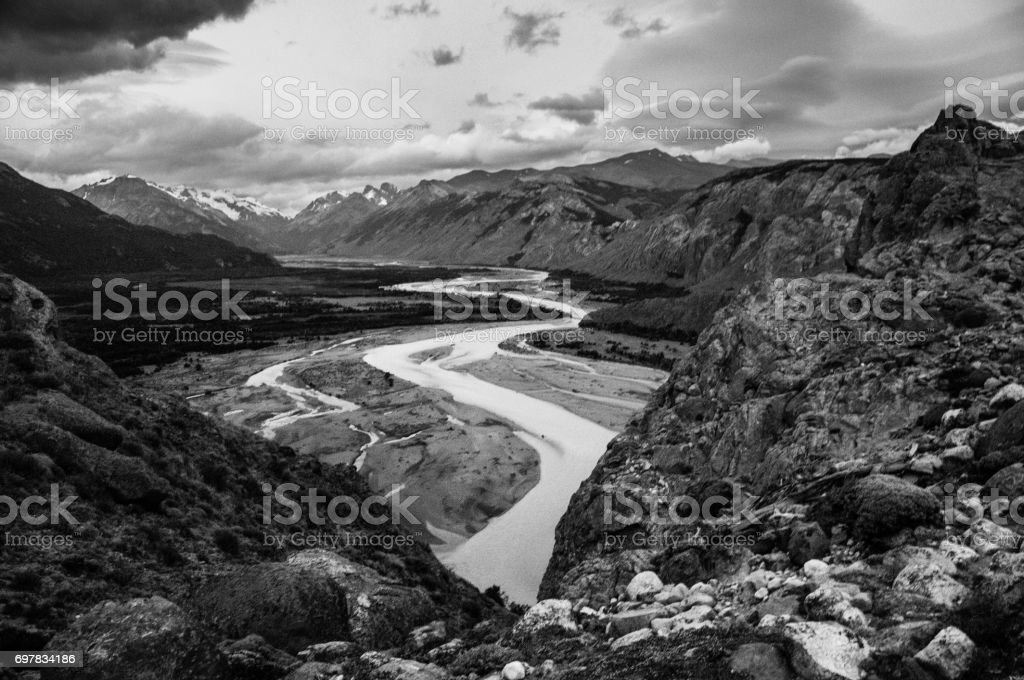 Landscape in Black and White stock photo